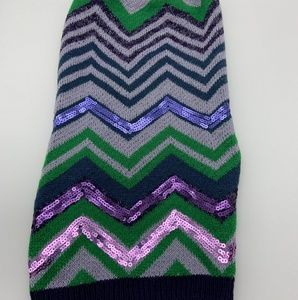 Top Paw Sweater Purple Green Sz: L